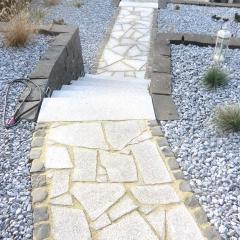 Polygonalplatten aus Quarzit