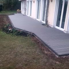 Terrasse aus WPC-Dielen